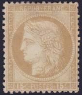 *PROMO* 15c Cérès Gros Chiffres Neuf (*) TB (Y&T N° 55 , Cote: +€) - 1871-1875 Ceres