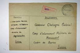 Switzerland WWII Internment Camp Dogmersellen To Camp Moosseedorf