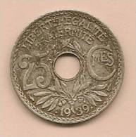 25 Centimes FRANCE 1939  TB - France