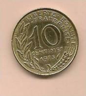 10 Centimes FRANCE 1975  TB - D. 10 Centimes