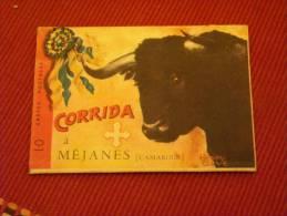 Fascicule De 10 Cartes Corrida A Méjanes (Camargue) Par Henri Couve - Corridas