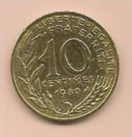 10 Centimes FRANCE 1980  TB - D. 10 Centimes