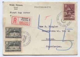 FINLAND, Suomi - BORGA, PORVOO, Registered, 1946. Postal Stationery To Yugoslavia - Finlandia