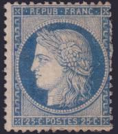 *PROMO* 25c Cérès Bleu Foncé Neuf * TB (Y&T N° 60Aa , Cote: 225€) - 1871-1875 Ceres
