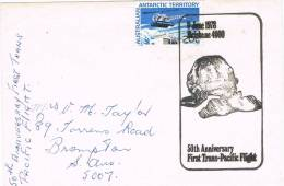 0624. Carta Antarctic Australian Territory AAT 1978. Trans Pacific Flight - Territorio Antártico Australiano (AAT)