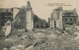 Maretz 5 Guerre Mondiale  LS Edit Hautmont Ecrite 1919 Ruines De L Eglise - Altri Comuni