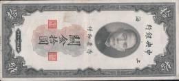 Billet Chine 10 Customs Gold Units Shanghai 1930 - China