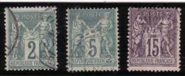 Type Sage. Type 2. 1876 - 1878. Lot N°43A - 1876-1898 Sage (Type II)