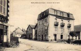 Merlines (Corrèze) - Avenue De La Gare - Modern ' Hotel Du Pavillon Tixier - Brandely - Café Bodeveix Billard - France