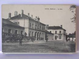 BELFORT (90) - LA GARE - ANIMEE (ATTELAGE) - Belfort - Ville