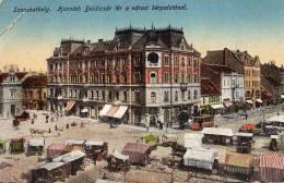 AK UNGARN HUNGARY SZONBATHELY HORVATH BOLDIZSAR TER   OLD POSTCARD 1916   Gefaltete ECKE - Ungarn
