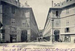 CPA 73 CHAMBERY PORTIQUES DE LA RUE DE BOIGNE - Chambery