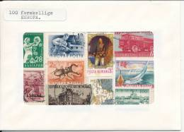 Europe 100 Different Off Paper Stamps In A Giftpackage (Christmas Gift For The Beginner?????) - Europe (Other)