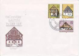 DDR Mi.-Nr. 2623-2625 Sonderstempel Fachwerkbauten - Covers & Documents