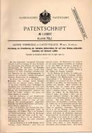 Original Patentschrift -  A. Torricelli In Lavey - Village B. Lavey-Morcles , Waadt , 1900 , Richtapparat Für Geschütze - Documents