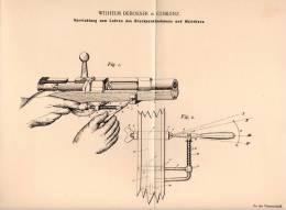 Original Patentschrift - W. Deboeser In Coblenz , 1899 , Apparat Für Schießunterricht , Rekruten , Gewehr , Pistole !!! - Dokumente