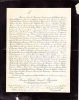 Faire-part Décès Claude Louis DE BOISSIEU, Ancien Chef De Division Au Ministère Des Cultes, Château Du Tiret, 1898 - Décès