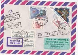 Registered Cover Arkangels To Honduras 1995 ( Space Stamps) - 1992-.... Fédération