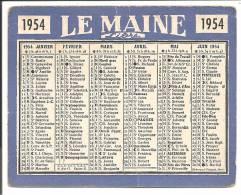 LE MAINE Libre 1954 - Calendriers