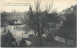 Cpa Caen 14 Calvados Le Square Place Republique - Caen