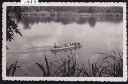 Madagascar - Mananjary, Pirogue Et Rameurs Sur Le Canal Des Pangalanes (1957) (-474) - Madagascar