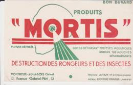 Buvard Produits Mortis - Buvards, Protège-cahiers Illustrés