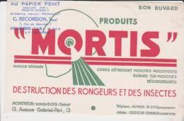 Buvard Produits Mortis Tampon Recordon Coulommiers - Carte Assorbenti