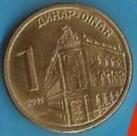 2011 X  UNC SRBIJA SERBIA 1 DINAR MONETA  UNC - Serbia