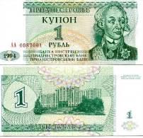 Russia-ex-USSR Trandestria- Moldova - 1 Rouble- A. Suvorov 2004 Y   UNC - Russie
