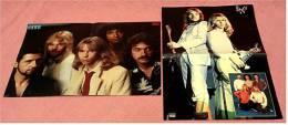 2 Kleine Musik Poster  Band Styx  -  Rückseiten : Johnny Logan , Elefant  -  Von Pop-Rocky Ca. 1982 - Plakate & Poster