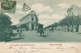 Montevideo  Calle Agraciada ( Arroyo Seco ) Edit Adroher Circulada 1906 A Dakar Senegal Tax - Uruguay