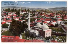 EUROPE MACEDONIA SKOPLJE THE VIEW OF THE CITY JAMMED OLD POSTCARD 1933. - Macedonia