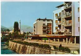 EUROPE KOSOVO PRIZREN THE SHORE OF RIVER BISTRICA OLD POSTCARD - Kosovo