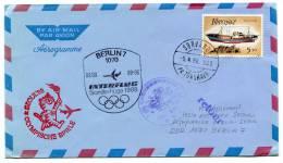 Flugpost Interflug Olympische Spiele Seoul 1988  Zuleitung Sörvagur (240) - Färöer Inseln