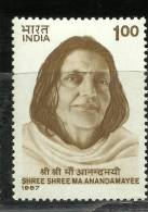 INDIA, 1987, Shree Shree Maa Anandamayee, (1896-1982), Spiritualist,  MNH, (**) - Induismo