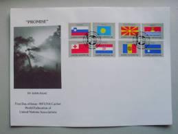 UNO-New York 862/9 FDC-Combo Flaggen 2001 Auf WFUNA-FDC - New York – UN Headquarters