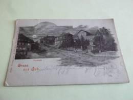 GRUSS AUS AUB  Vorstadt Circulee N 16400 Verlag Von  A. Pfeuffer Buchbinderei  Allemagne Baviere - Germany