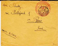 1914 - RARE ENVELOPPE De L´HOPITAL AUXILIAIRE N°1 De MARSEILLE (BOUCHES Du RHONE) - Oorlog 1914-18