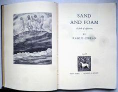 Rare Livre Anglais Kahlil Gibran Sand And Foam Aphorisme 1968 Alfred Knopf  7 Illustration Art Nouveau Femme Surrealisme - Spiritualisme
