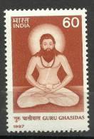 INDIA, 1987, Guru Ghasidas, (1756-1837), Founder Of The Saman Sect,   MNH, (**) - Induismo