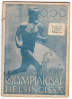 SPORTS XV OLIMPIC GAMES HELSINKI 1952. MAGAZINE OLIMPIC PROGRAM 33 PAGES - Postcards