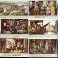 Chromos Liebig - Série Complète De 6 Français N°389 - Histoire De Nos Provinces-Flandre Orientale - Liebig