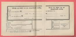 Bewijs Van Afgifte Van Een Aangetekende Zending 1947 /  Recommande / - Otros
