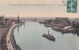 CPA 78  FIN-D'OISE ,le Bassin. (péniches) 1910. - Autres Communes