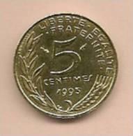 5 Centimes 1993 SUPERBE - C. 5 Centimes