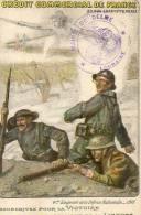BANQUE - CREDIT COMMERCIAL DE FRANCE  WW1 CACHET MAIRIE DE DELME LORRAINE EMPRUNT DE LA DEFENSE NATIONALE - Bancos