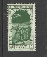 ITALIA REGNO ITALY KINGDOM 1934 FIUME POSTA AEREA AIR MAIL CENT. 25 MNH - Luchtpost
