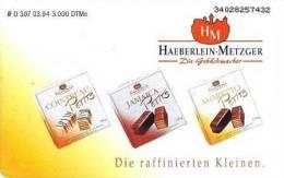 Germany - O 307 - 03.1994 - Chocolate - Haeberlein Metzger - Praliné - 3.000ex - Germania