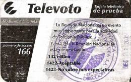 ESP-04 TARJETA DE CUBA AÑO 2004 TELEVOTO CON SELLO TELEFONIA PUBLICA (RRRR) - Cuba