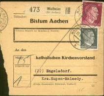 Bezetting Oostkantons: Pakketkaart Walheim Naar ENGELSDORF ( Kr MALMEDY ) 11.8.44. - Brieven